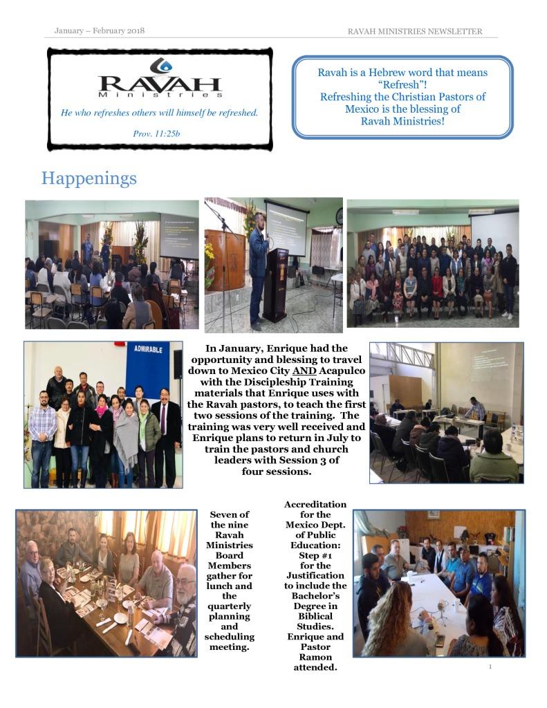 thumbnail of Ravah Ministries January – February 2018 Newsletter